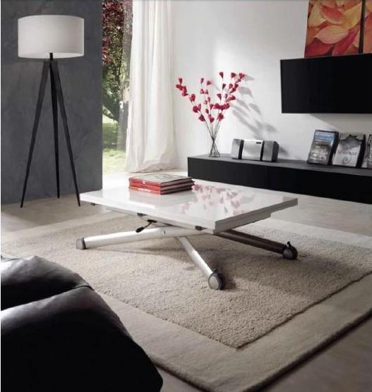 Mesa de centro o mesa elevable extensible espacios - Mesas de centro extensibles ...