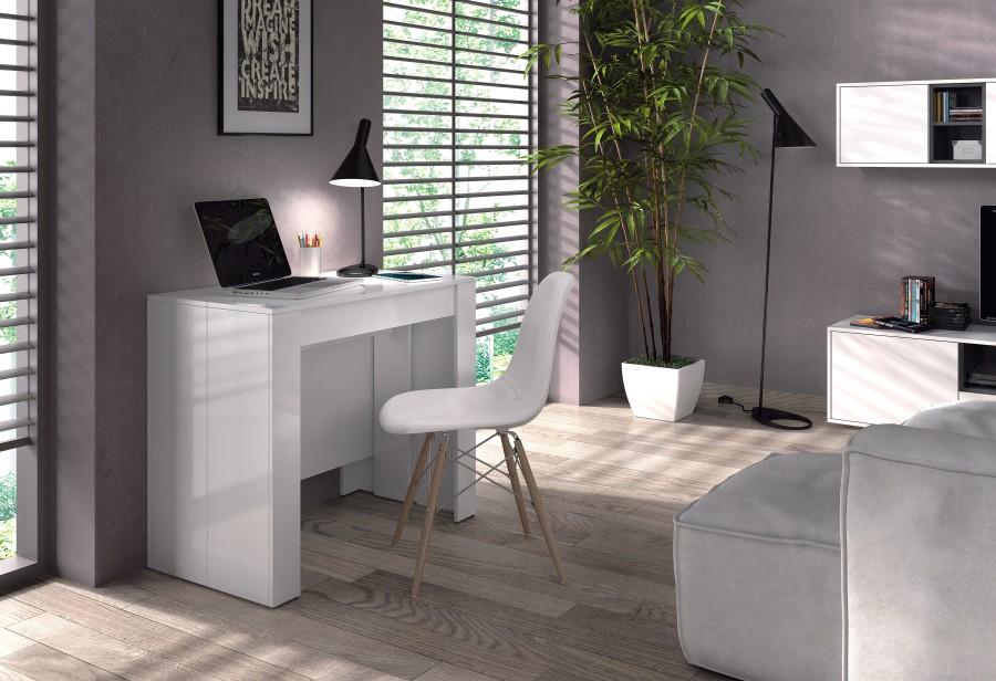 Consola extensible - Mesa blanca extensible ...