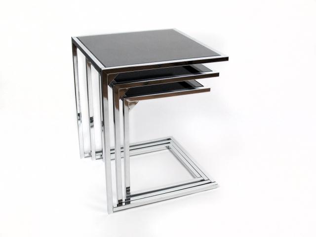 Una mesa auxiliar o tres en una - Mesitas auxiliares de cristal ...