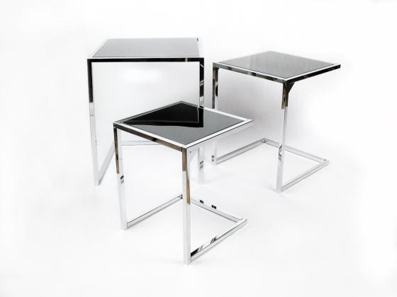 Decorar con mesas nido espaciospilimili - Mesitas auxiliares salon ...