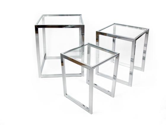 Una mesa auxiliar o tres en una espaciospilimili - Mesas nido cristal ...