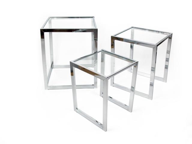 mesas nido cristal