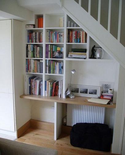oficina bajo escalera