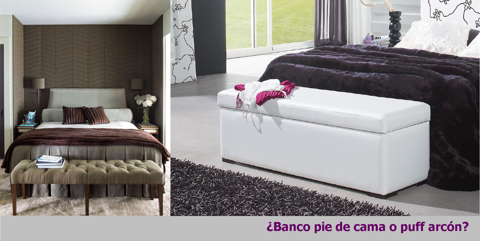 Banco pie de cama o puff arc n for Bancos pie de cama baratos