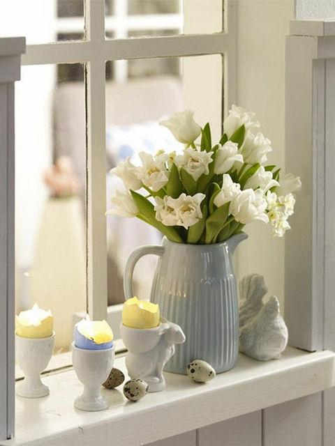 Decorar ventanas con flores