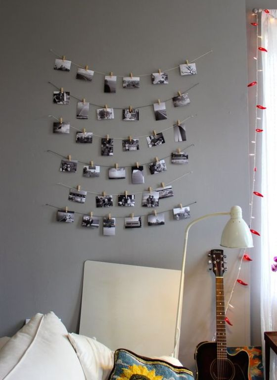 Decoraci n con fotos ideas para colocar tus fotos en la pared - Ideas fotos pared ...