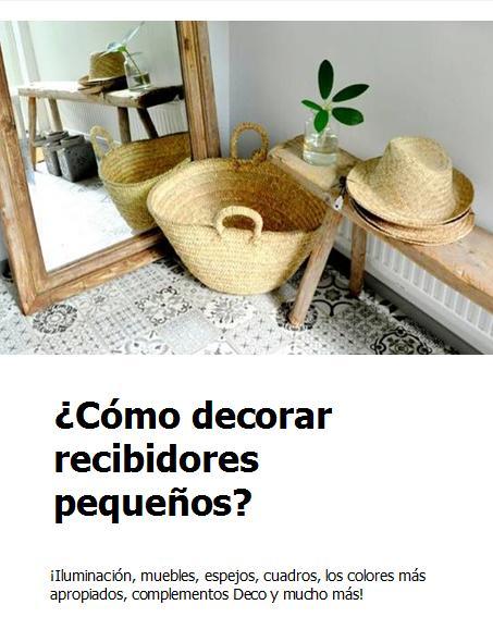 ¡Aprende a decorar recibidores pequeños con estilo!