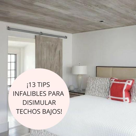 13 tips para disimular techos bajos